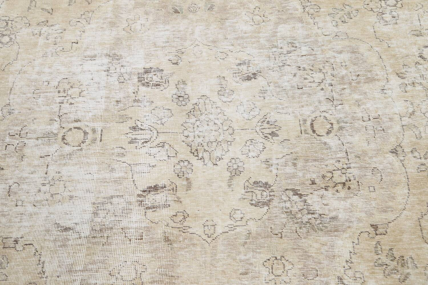 Muted Distressed Tabriz Persian Area Rug 10x12 image 11