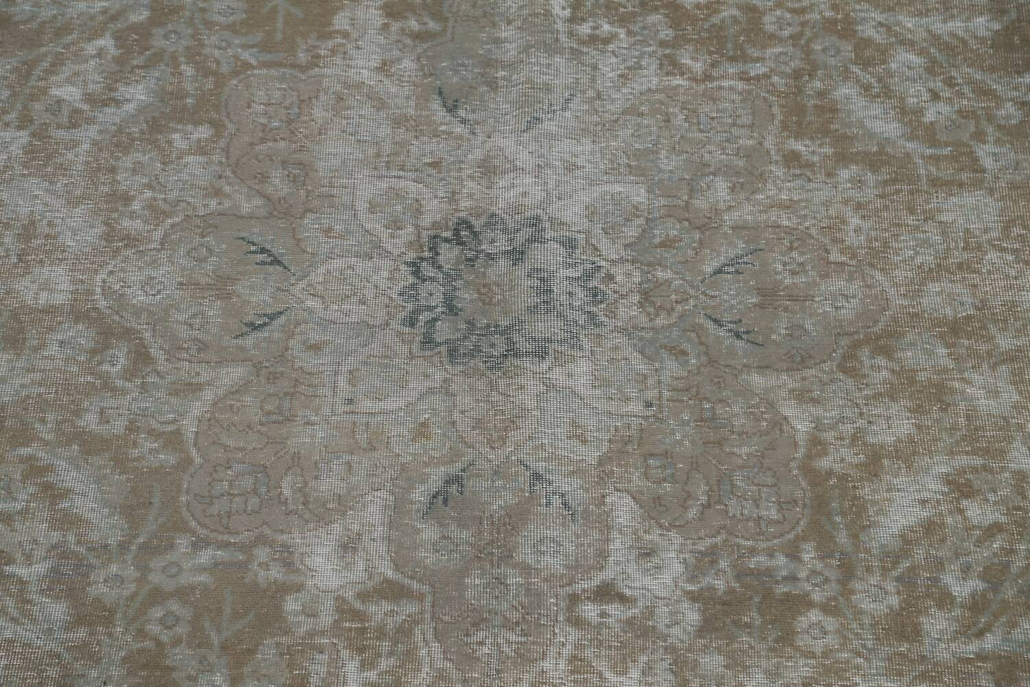 Muted Distressed Tabriz Persian Area Rug 10x13 image 4