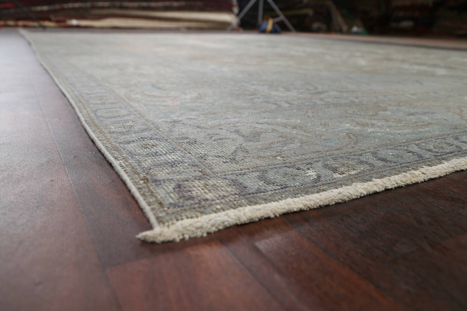 Muted Distressed Tabriz Persian Area Rug 10x13 image 6