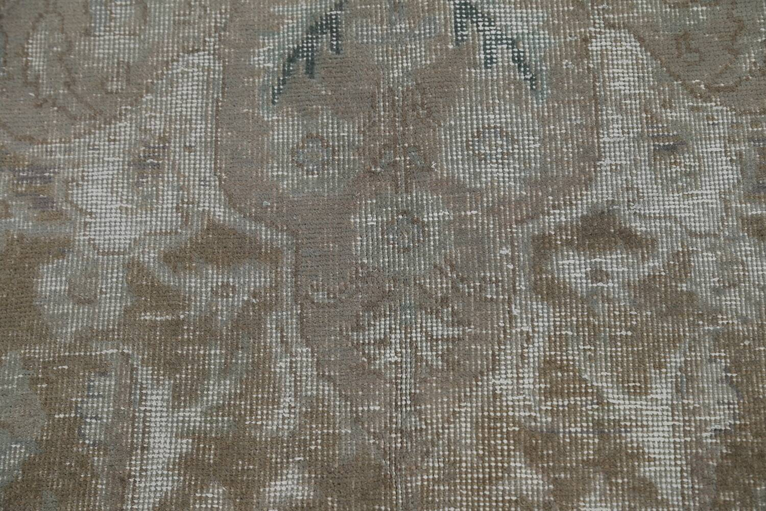 Muted Distressed Tabriz Persian Area Rug 10x13 image 11