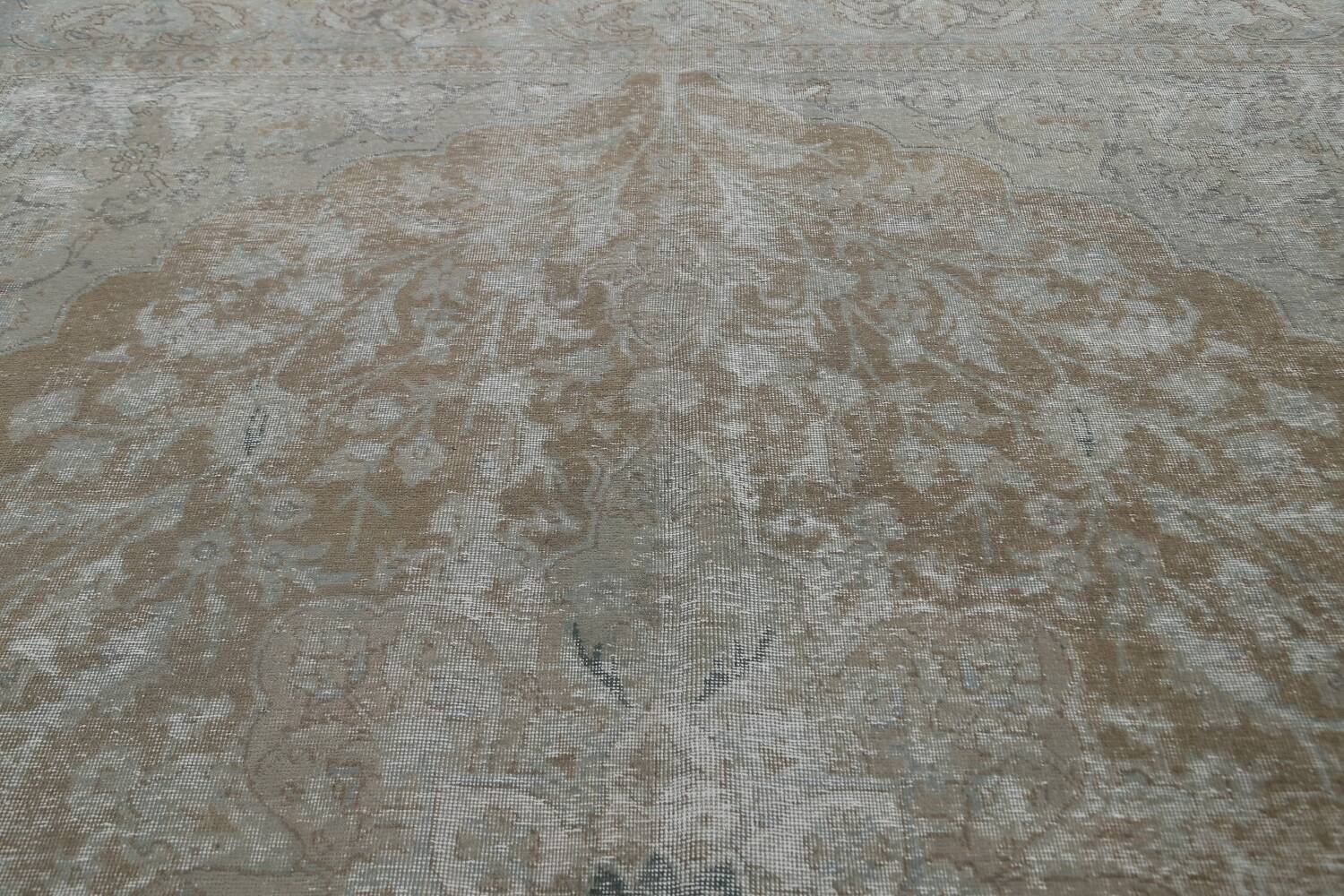 Muted Distressed Tabriz Persian Area Rug 10x13 image 13