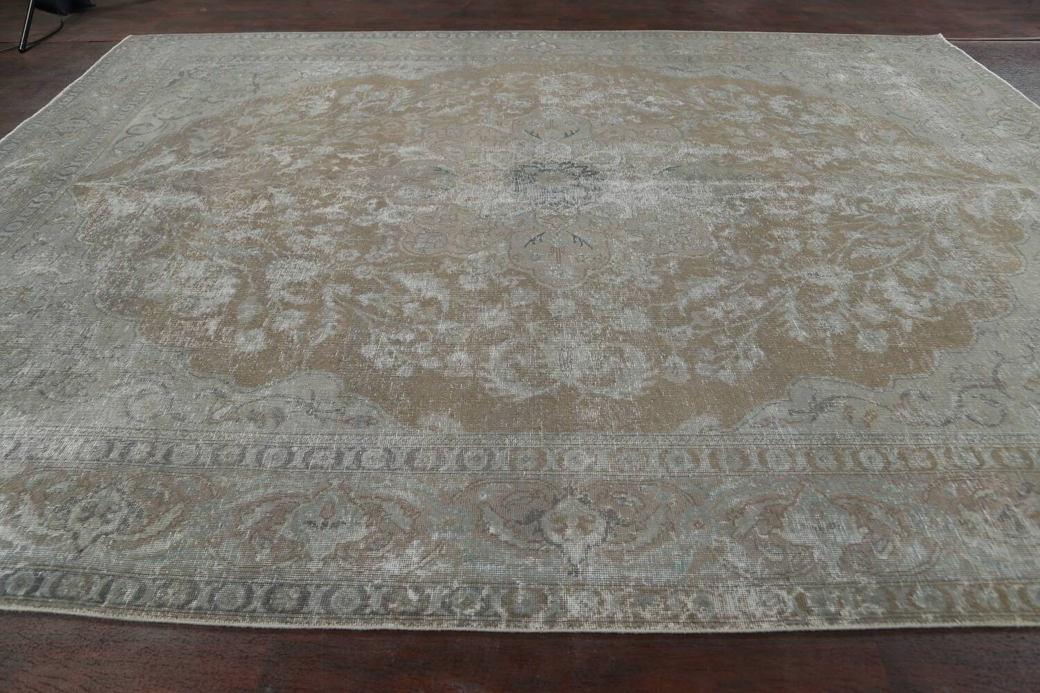Muted Distressed Tabriz Persian Area Rug 10x13 image 15