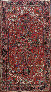 100% Vegetable Dye Antique Heriz Persian Area Rug 9x14