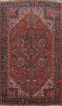 100% Vegetable Dye Antique Heriz Persian Area Rug 9x13