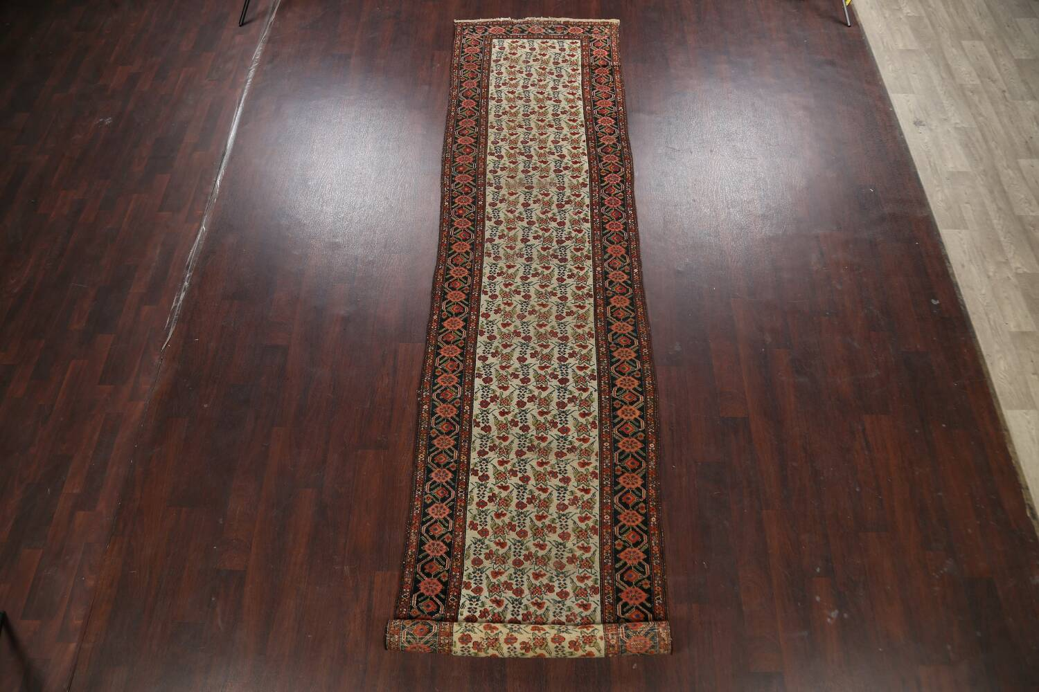 Pre-1900 Antique Vegetable Dye Malayer Persian Runner Rug 3x16 image 2