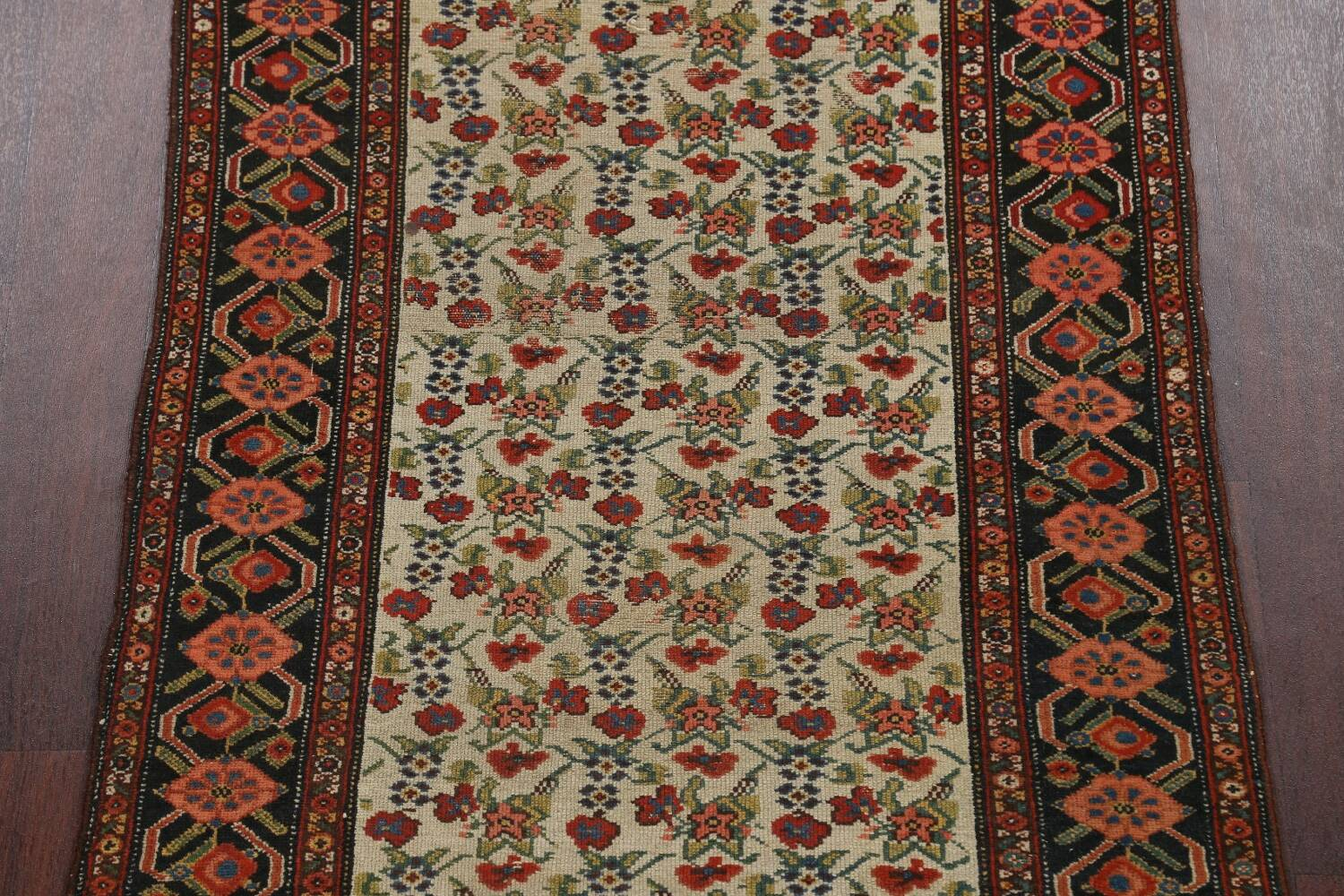 Pre-1900 Antique Vegetable Dye Malayer Persian Runner Rug 3x16 image 4