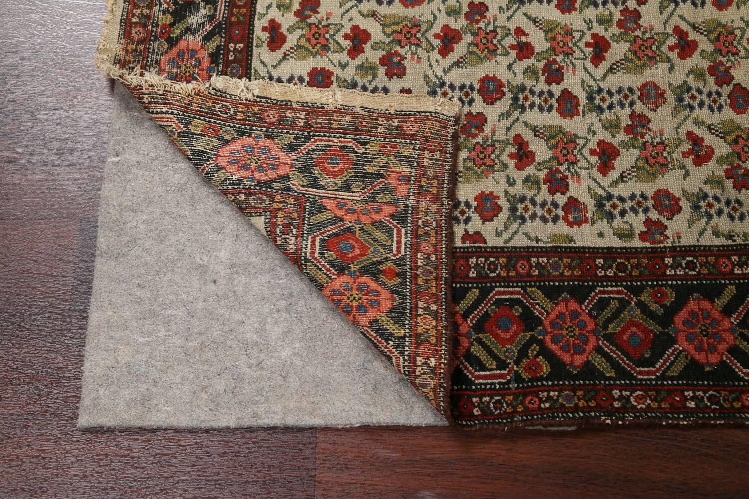 Pre-1900 Antique Vegetable Dye Malayer Persian Runner Rug 3x16 image 7