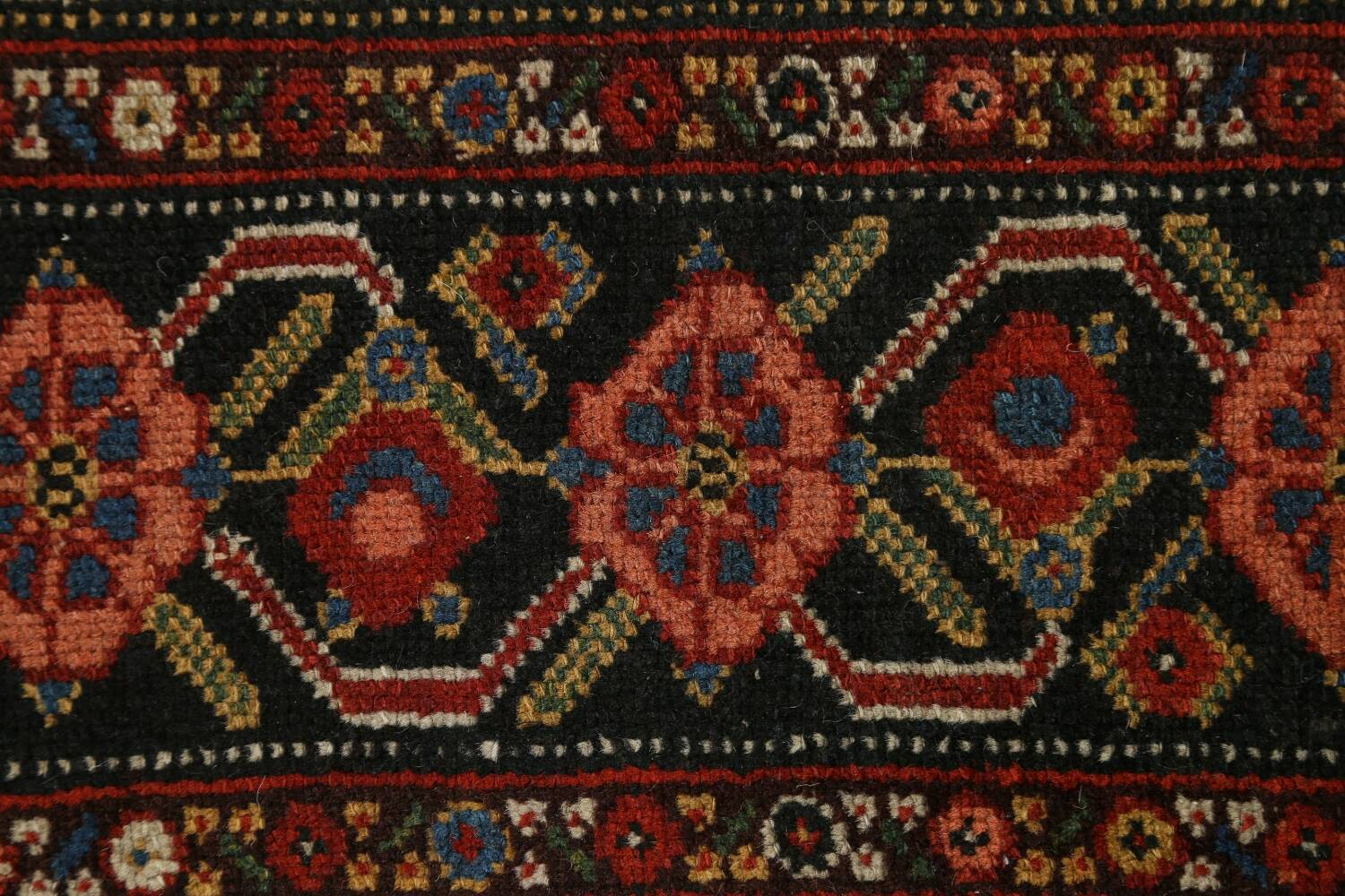Pre-1900 Antique Vegetable Dye Malayer Persian Runner Rug 3x16 image 9