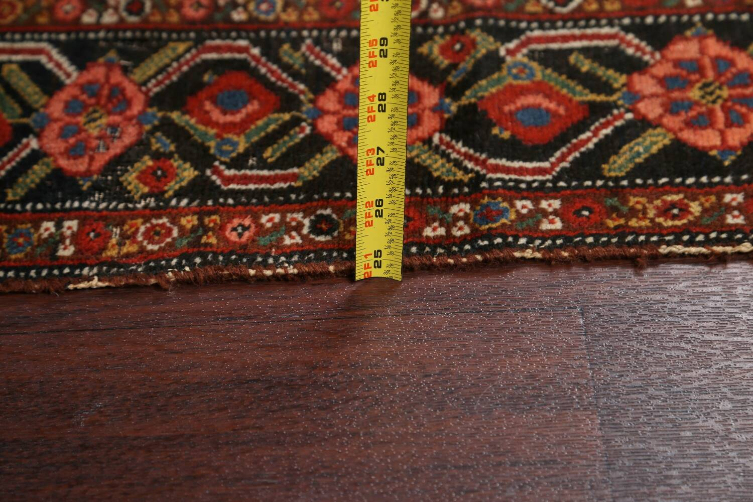 Pre-1900 Antique Vegetable Dye Malayer Persian Runner Rug 3x16 image 18