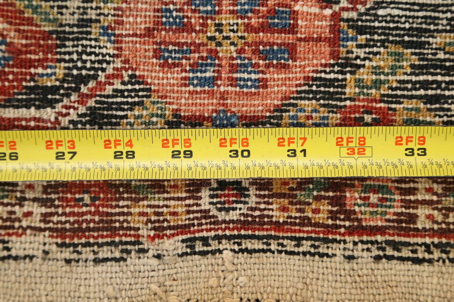 Pre-1900 Antique Vegetable Dye Malayer Persian Runner Rug 3x16 image 19