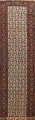 Pre-1900 Antique Vegetable Dye Malayer Persian Runner Rug 3x16 image 1