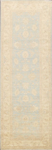 Muted Floral Oushak Oriental Runner Rug 3x9