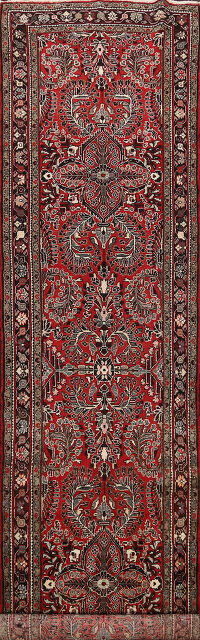 All-Over Floral Lilian Persian Runner Rug 4x13