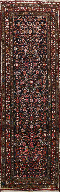 All-Over Malayer Hamedan Persian Runner Rug 3x10