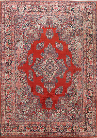 Floral Red Sarouk Persian Area Rug 8x10