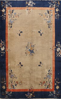 Antique Art Deco Chinese Oriental Area Rug 9x12