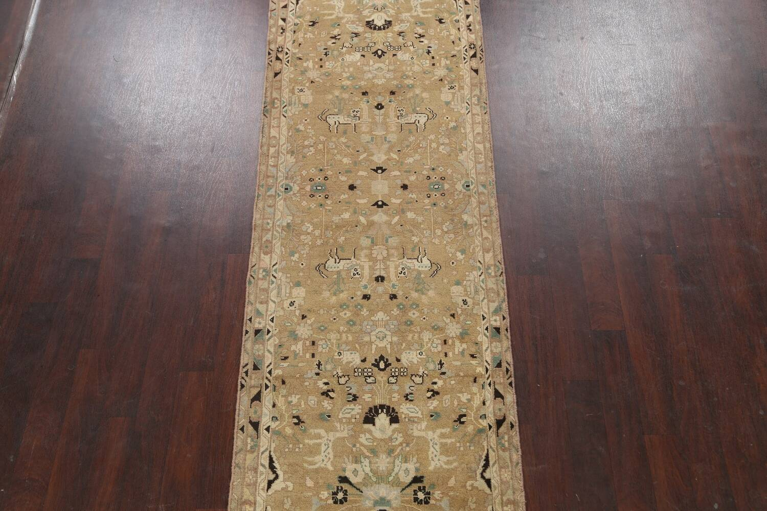 Animal Pictorial Malayer Persian Runner Rug 3x12 image 3
