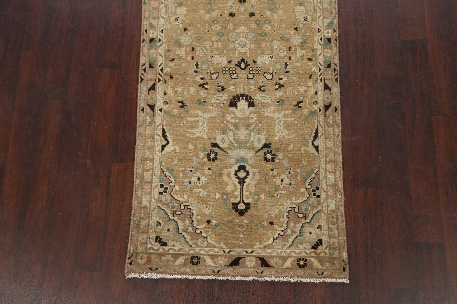 Animal Pictorial Malayer Persian Runner Rug 3x12 image 8