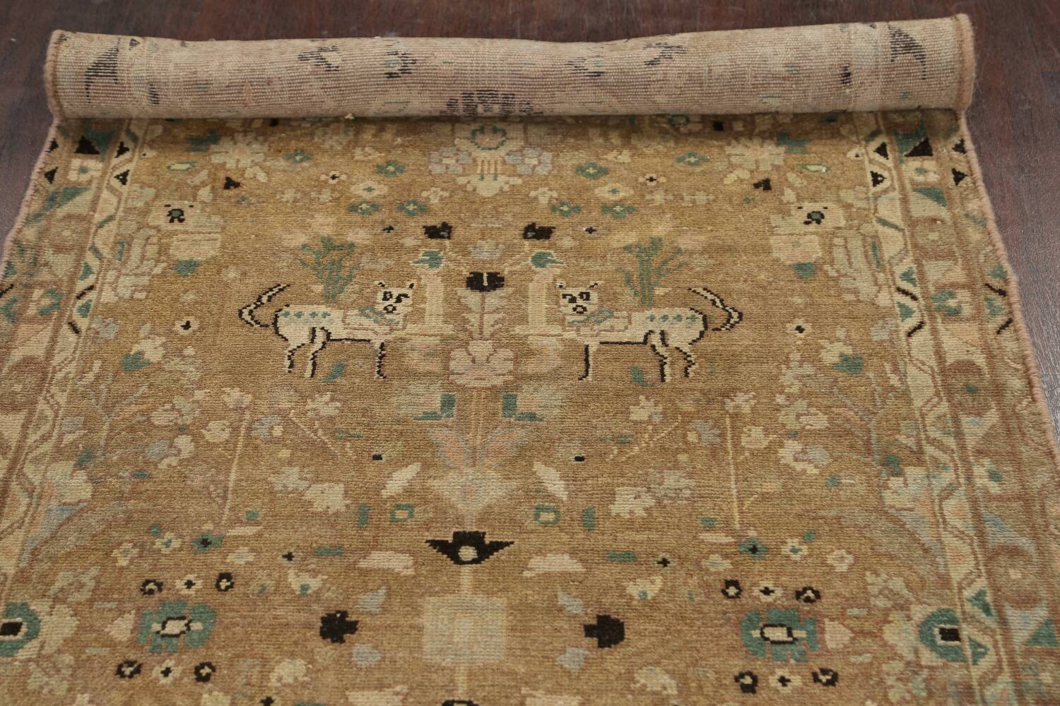 Animal Pictorial Malayer Persian Runner Rug 3x12 image 14