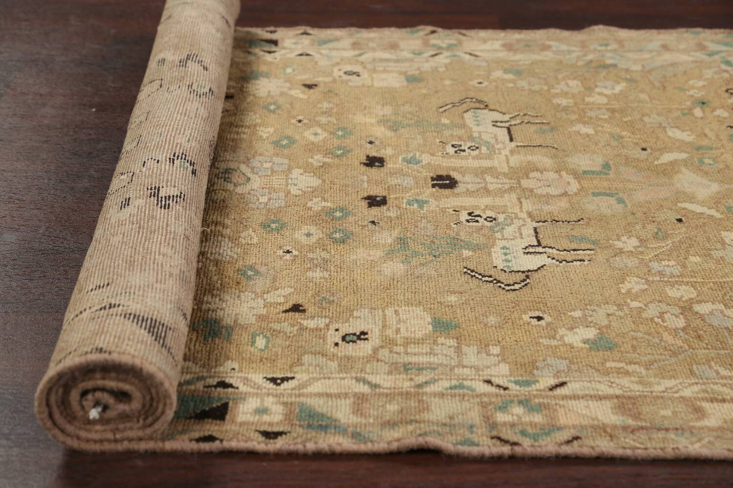 Animal Pictorial Malayer Persian Runner Rug 3x12 image 15