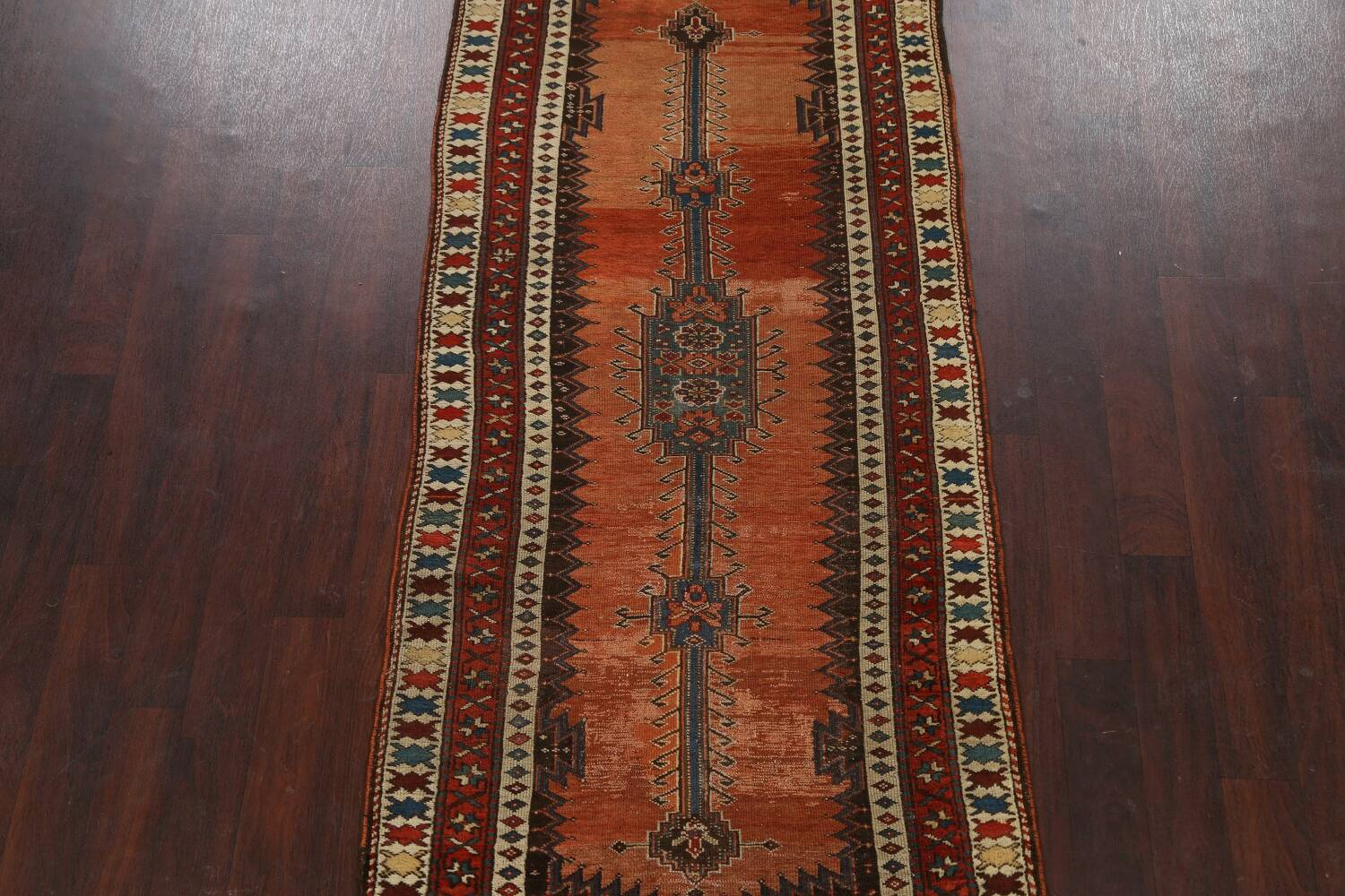Pre-1900 Antique Vegetable Dye Malayer Persian Runner Rug 4x10 image 3