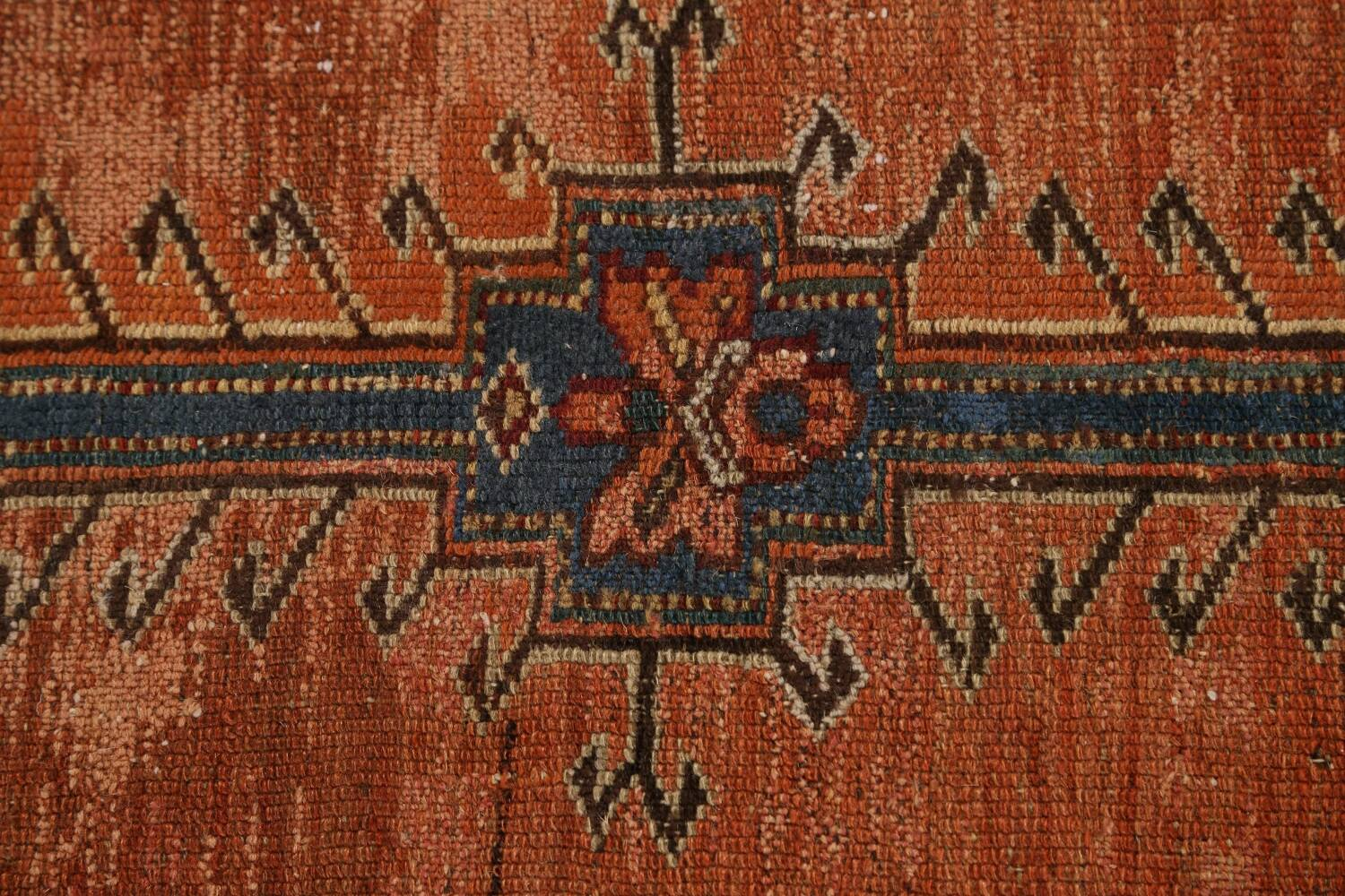 Pre-1900 Antique Vegetable Dye Malayer Persian Runner Rug 4x10 image 9