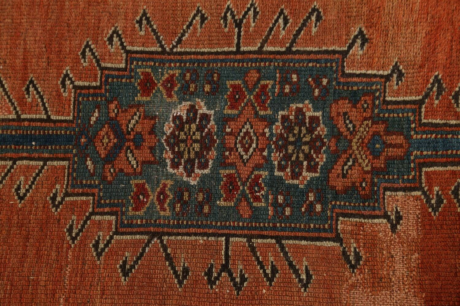 Pre-1900 Antique Vegetable Dye Malayer Persian Runner Rug 4x10 image 10