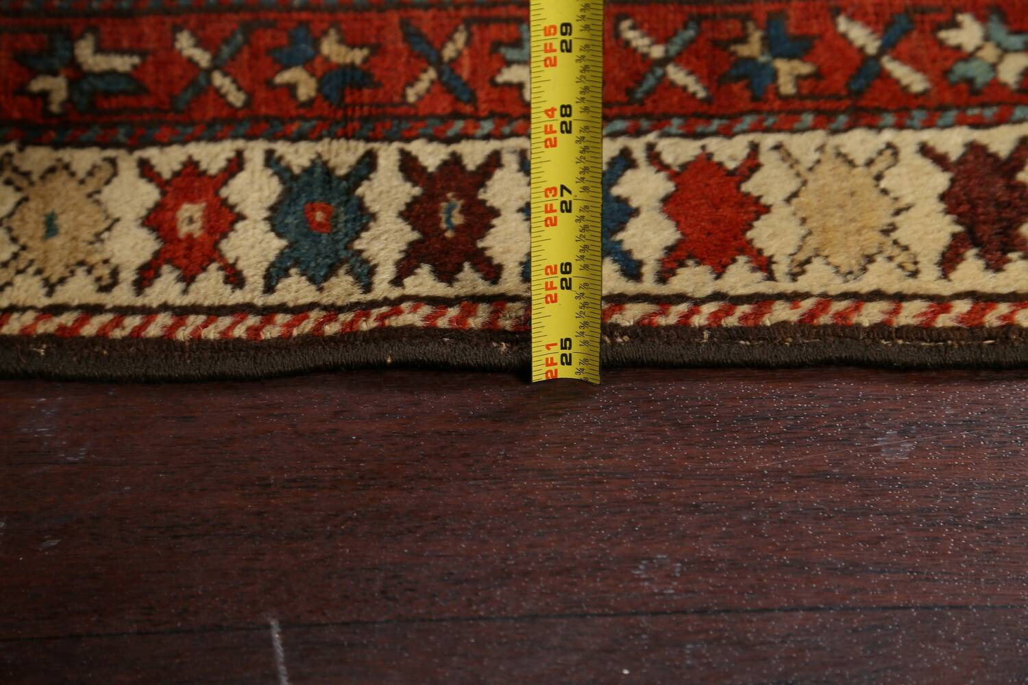 Pre-1900 Antique Vegetable Dye Malayer Persian Runner Rug 4x10 image 19