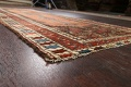 Pre-1900 Antique Vegetable Dye Malayer Persian Runner Rug 4x10 image 6