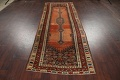 Pre-1900 Antique Vegetable Dye Malayer Persian Runner Rug 4x10 image 15