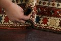 Pre-1900 Antique Vegetable Dye Malayer Persian Runner Rug 4x10 image 18