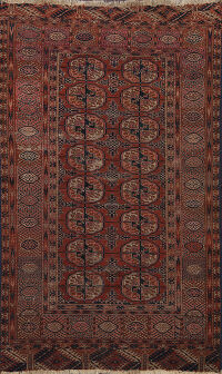 Pre-1900 Antique Geometric Caucasian Oriental Area Rug 3x5