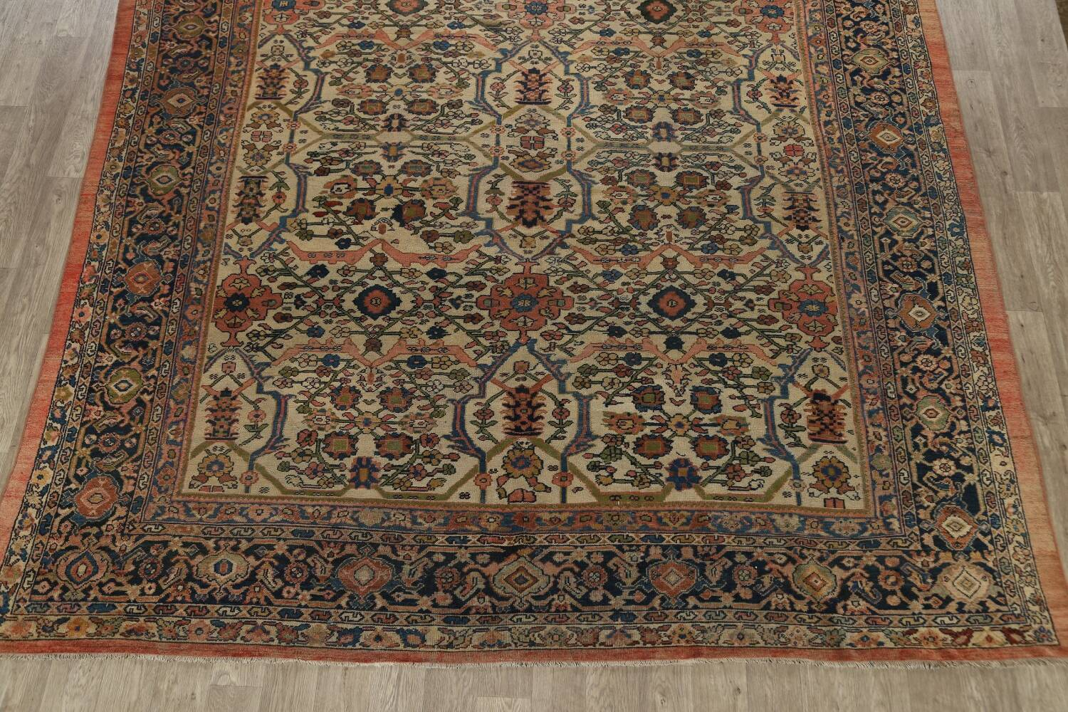 Pre-1900 Antique Vegetable Dye Sultanabad Persian Area Rug 10x13 image 8