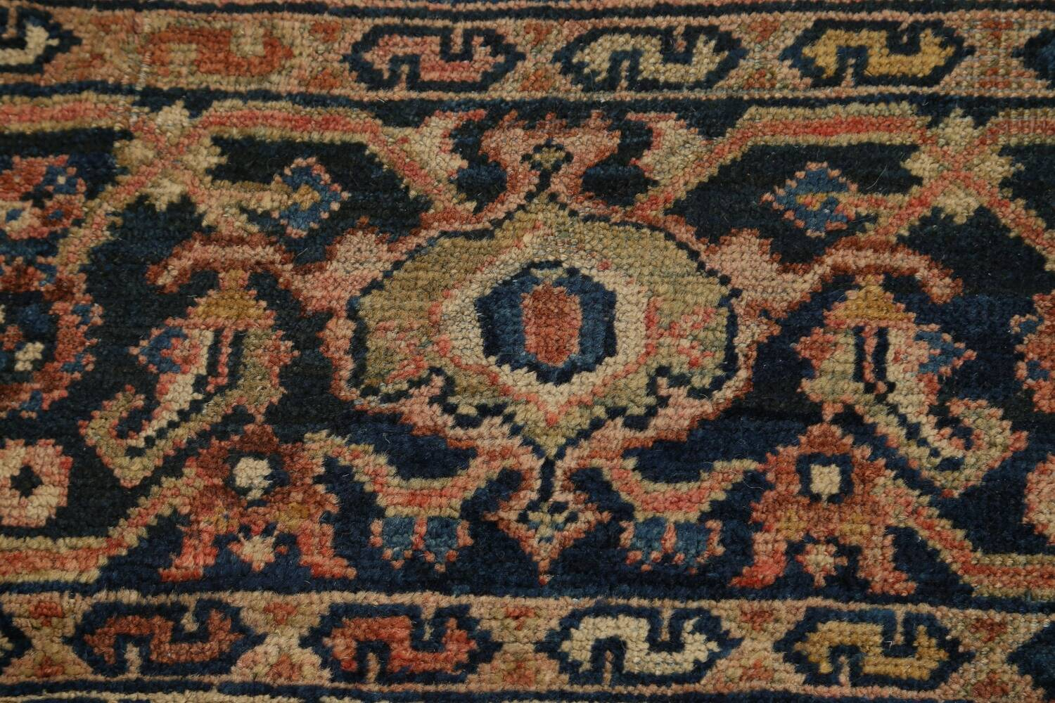 Pre-1900 Antique Vegetable Dye Sultanabad Persian Area Rug 10x13 image 9