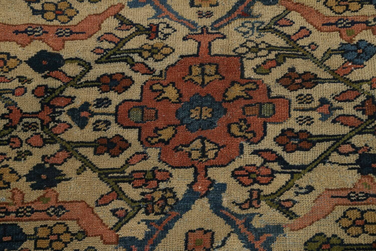 Pre-1900 Antique Vegetable Dye Sultanabad Persian Area Rug 10x13 image 11