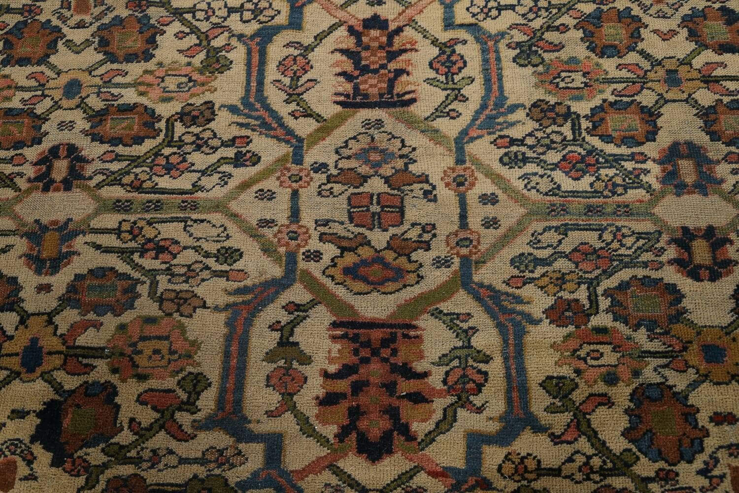 Pre-1900 Antique Vegetable Dye Sultanabad Persian Area Rug 10x13 image 12