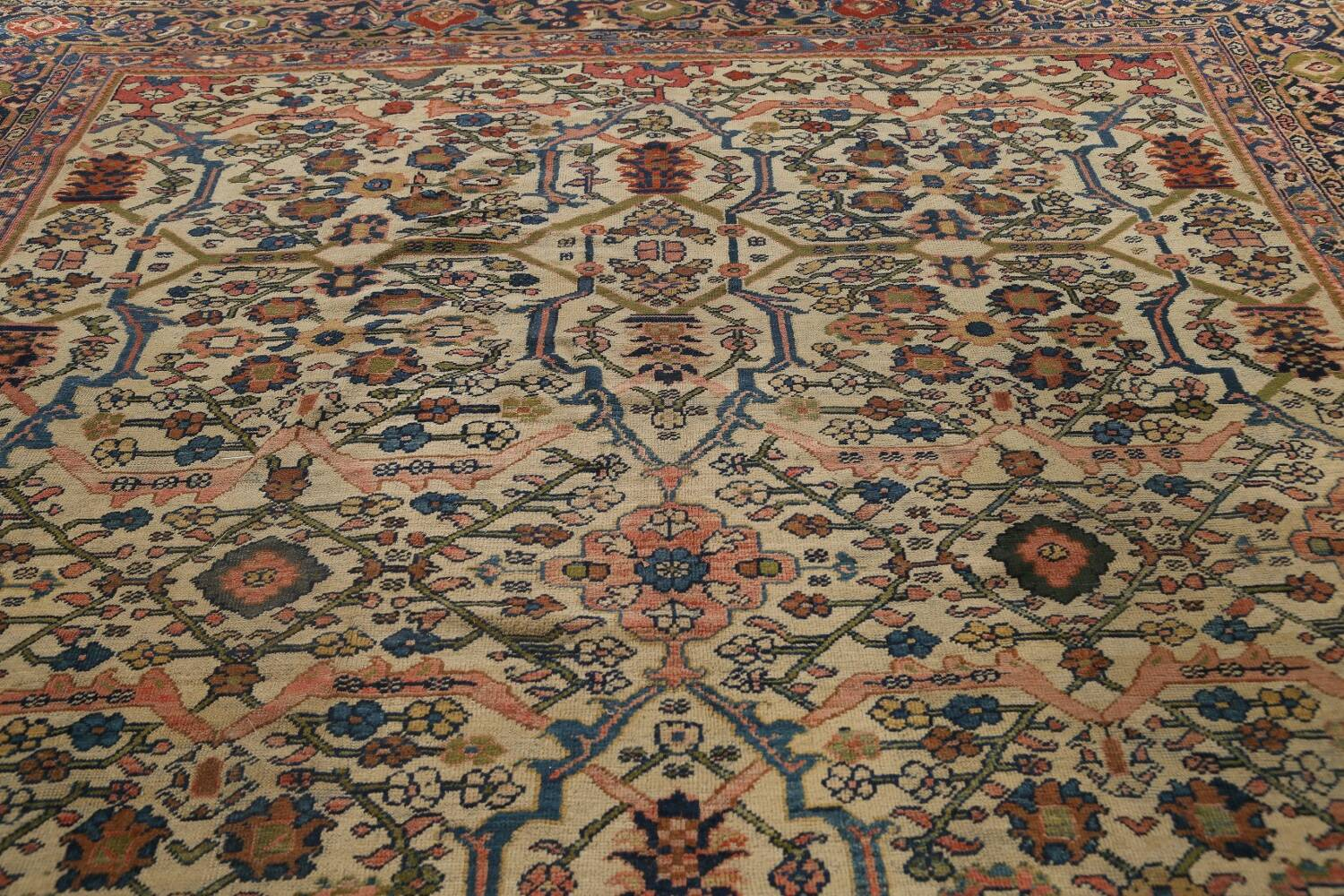 Pre-1900 Antique Vegetable Dye Sultanabad Persian Area Rug 10x13 image 13