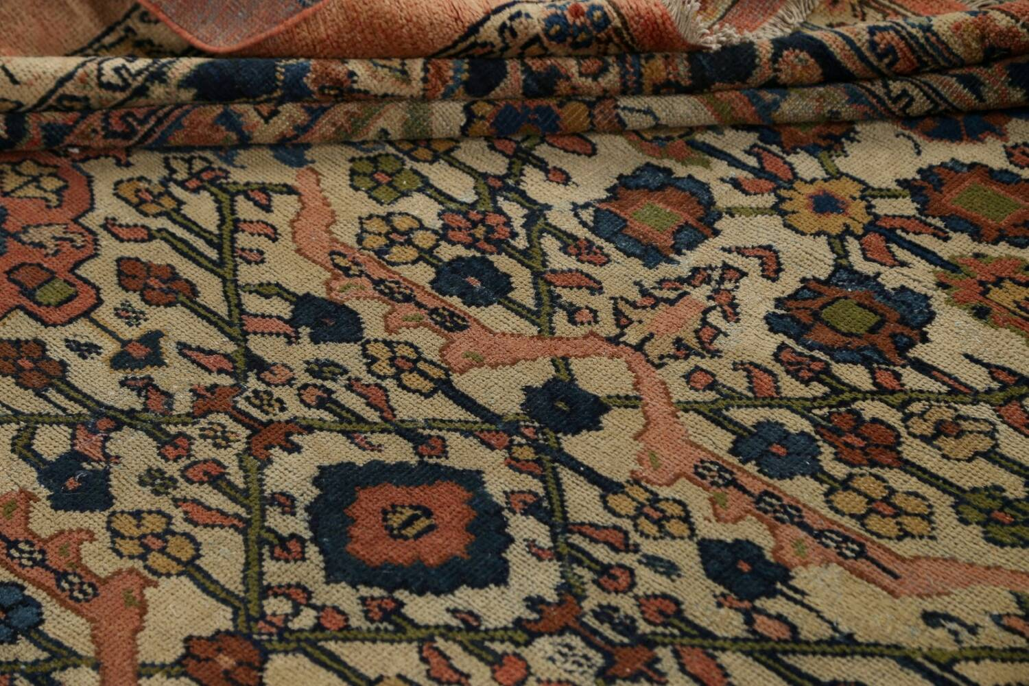 Pre-1900 Antique Vegetable Dye Sultanabad Persian Area Rug 10x13 image 17
