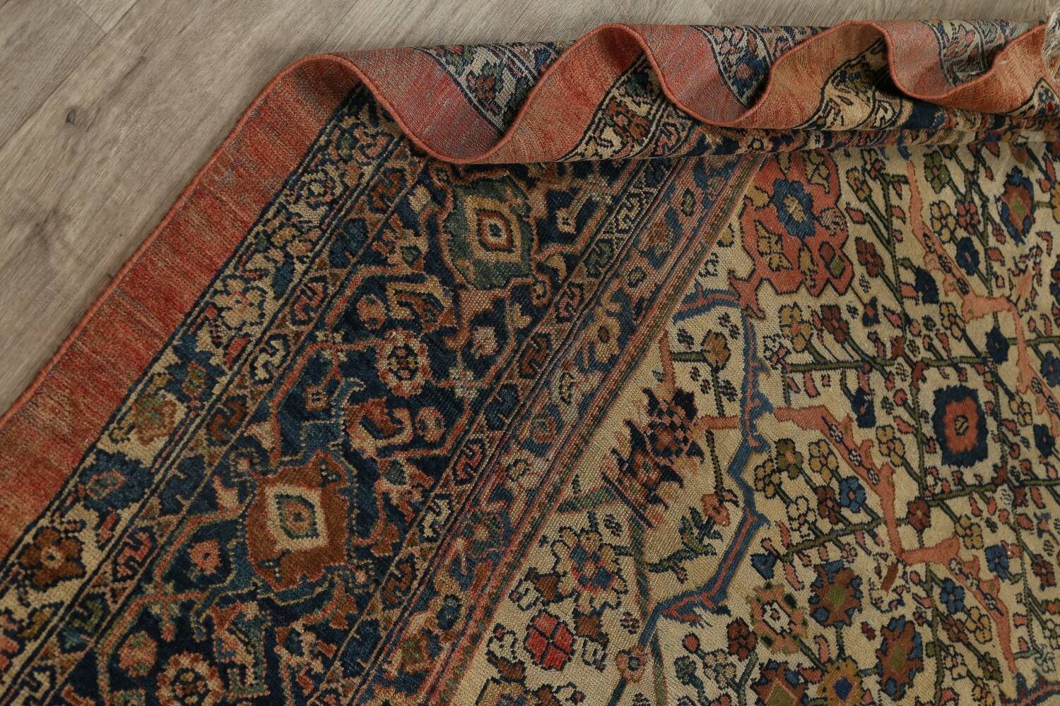 Pre-1900 Antique Vegetable Dye Sultanabad Persian Area Rug 10x13 image 18