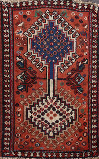 Tribal Geometric Yalameh Persian Area Rug 2x3