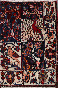 Animal Pictorial Bakhtiari Persian Area Rug 2x3