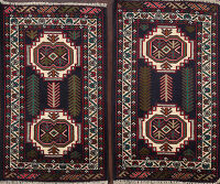 Set of 2 Geometric Balouch Oriental Area Rugs 2x3