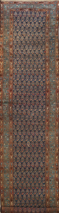 Pre-1900 Antique All-Over Malayer Persian Runner Rug 3x17