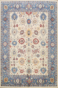 All-Over Vegetable Dye Oushak Oriental Area Rug 8x10