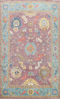 Floral Turkish Oushak Oriental Area Rug 9x12