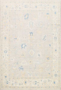 Muted Floral Oushak Oriental Area Rug 8x10