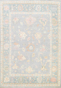 All-Over Floral Oushak Oriental Area Rug 8x10