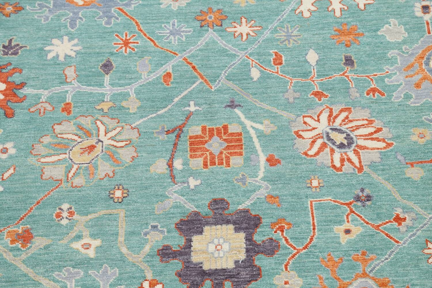 All-Over Oushak Oriental Area Rug 9x12 image 4