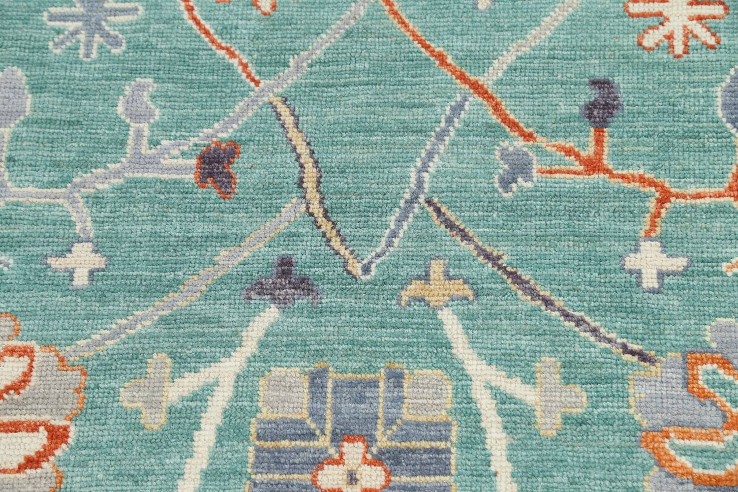 All-Over Oushak Oriental Area Rug 9x12 image 10