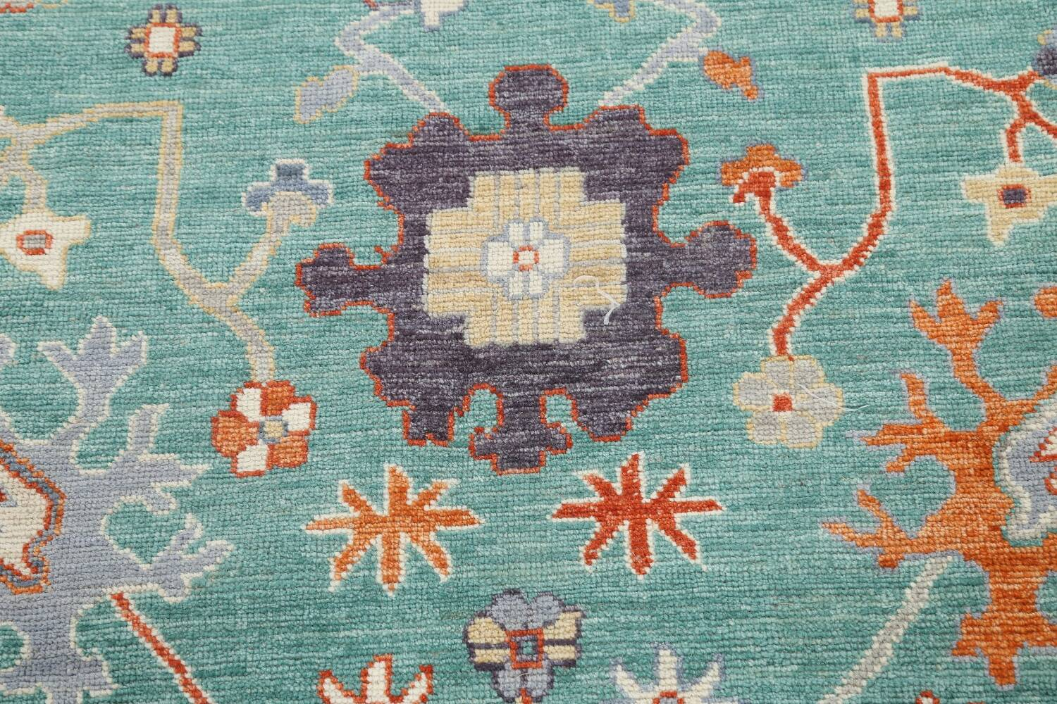 All-Over Oushak Oriental Area Rug 9x12 image 11